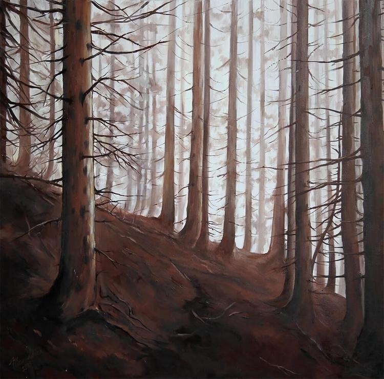 Pines - ine, wood, forest, monochrome - lanamarandina | ello