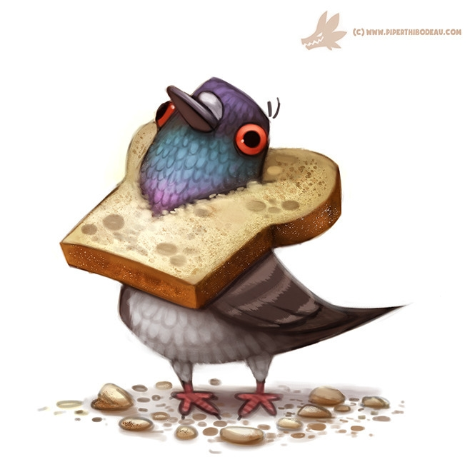 Daily Paint Bread Head - 1017. - piperthibodeau | ello