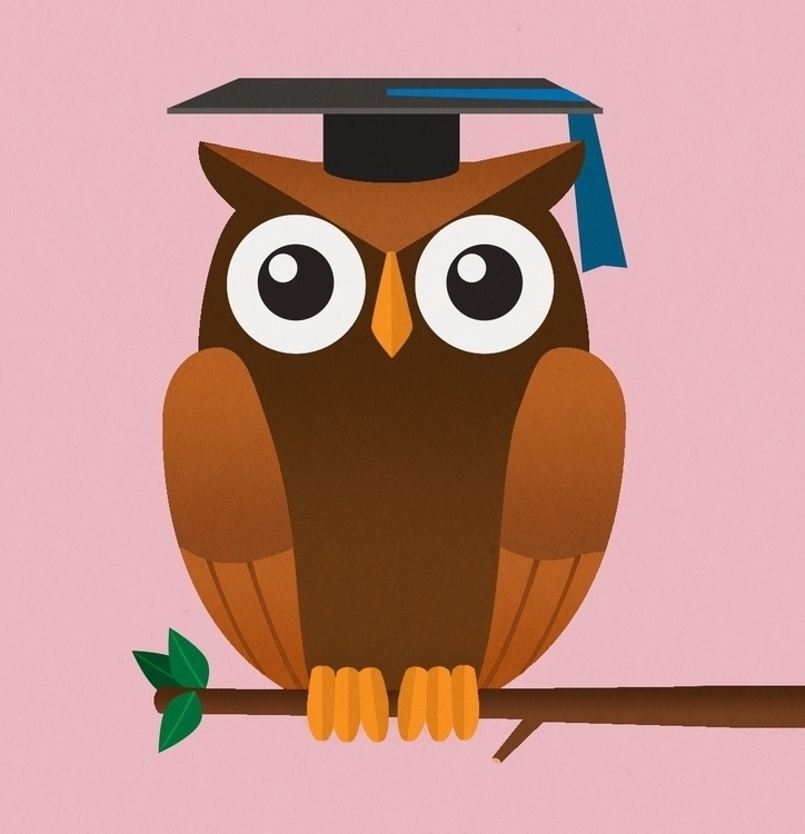 Educator Owl - illustration, drawing - danperin | ello