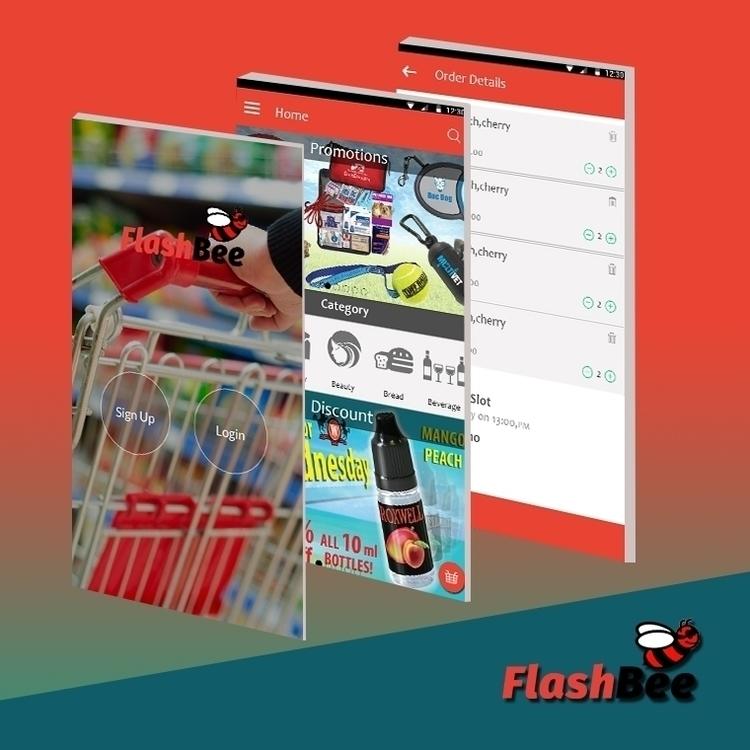 FlashBee App - design, illustration - nztsolutions | ello