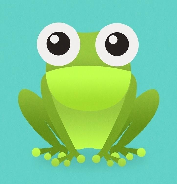 Frog - illustration, drawing - danperin | ello