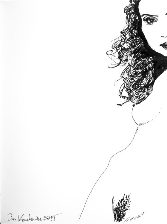 woman Ink paper. 18 24,4cm - nude - jandraws | ello