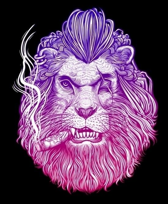 Winya 47 - illustration, lion - winya | ello