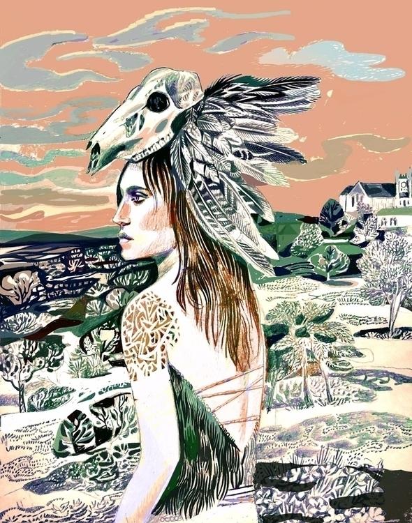 work progress. woman head cover - martinx | ello