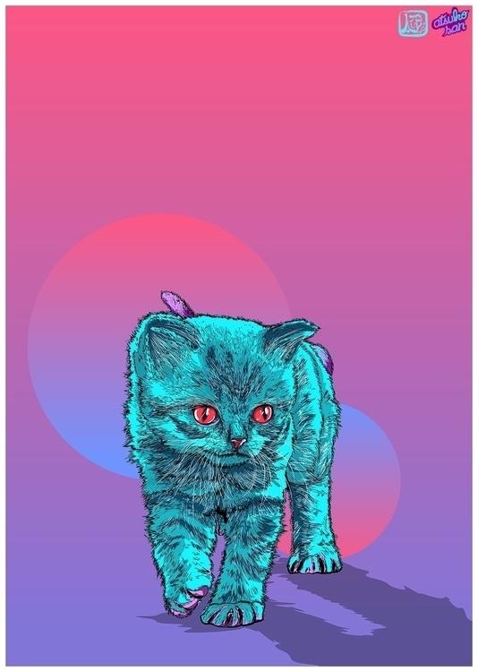 drawing, colorful, cats, illustration - atsukosan-3588 | ello