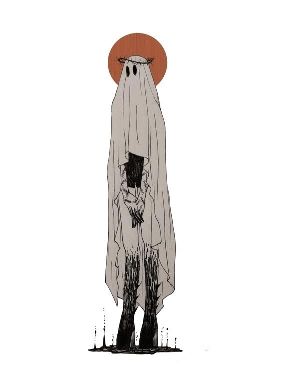 ghost, illustration, pen, grotesque - mioim | ello
