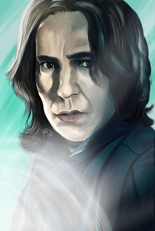 Digital painting Severus Snape - hellonsy | ello