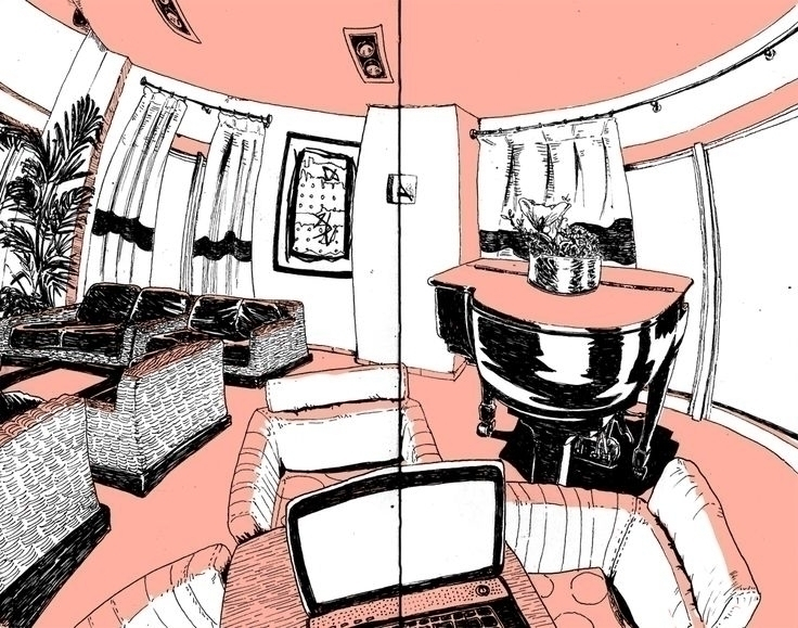 5 point perspective, hotel hall - massavage | ello