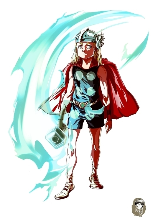 Thor Teen version - illustration - wmyeong | ello