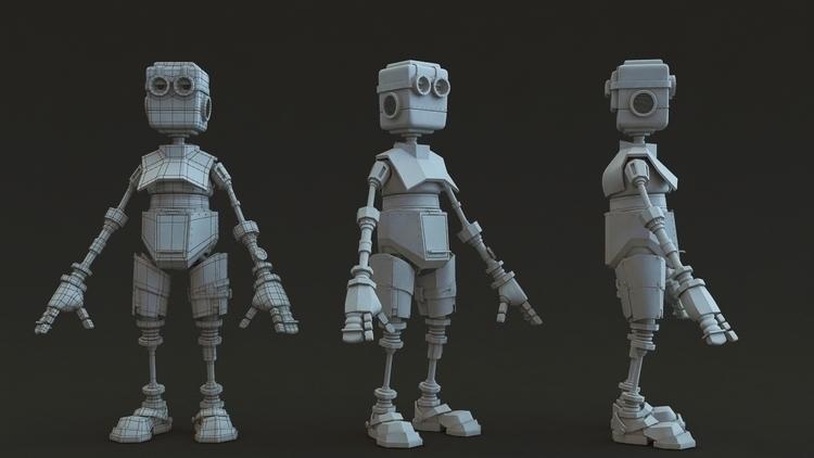 Robot - characterdesign, 3d, 3dsmax - henrik-5947 | ello