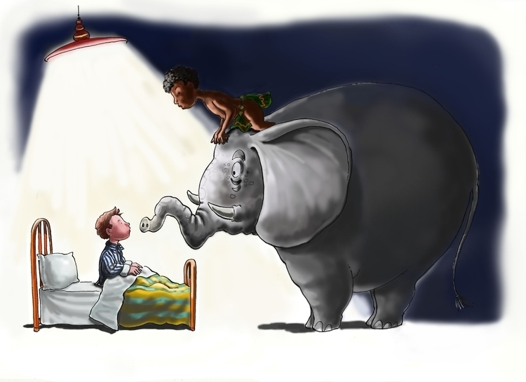 dreams - bed, elephant, children - dorianostrologo | ello