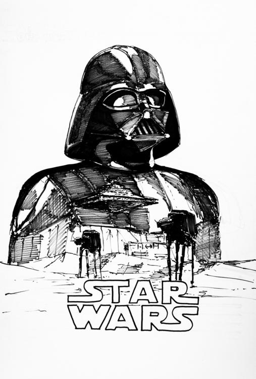 Empire strikes - poster Tria Ma - jandraws | ello