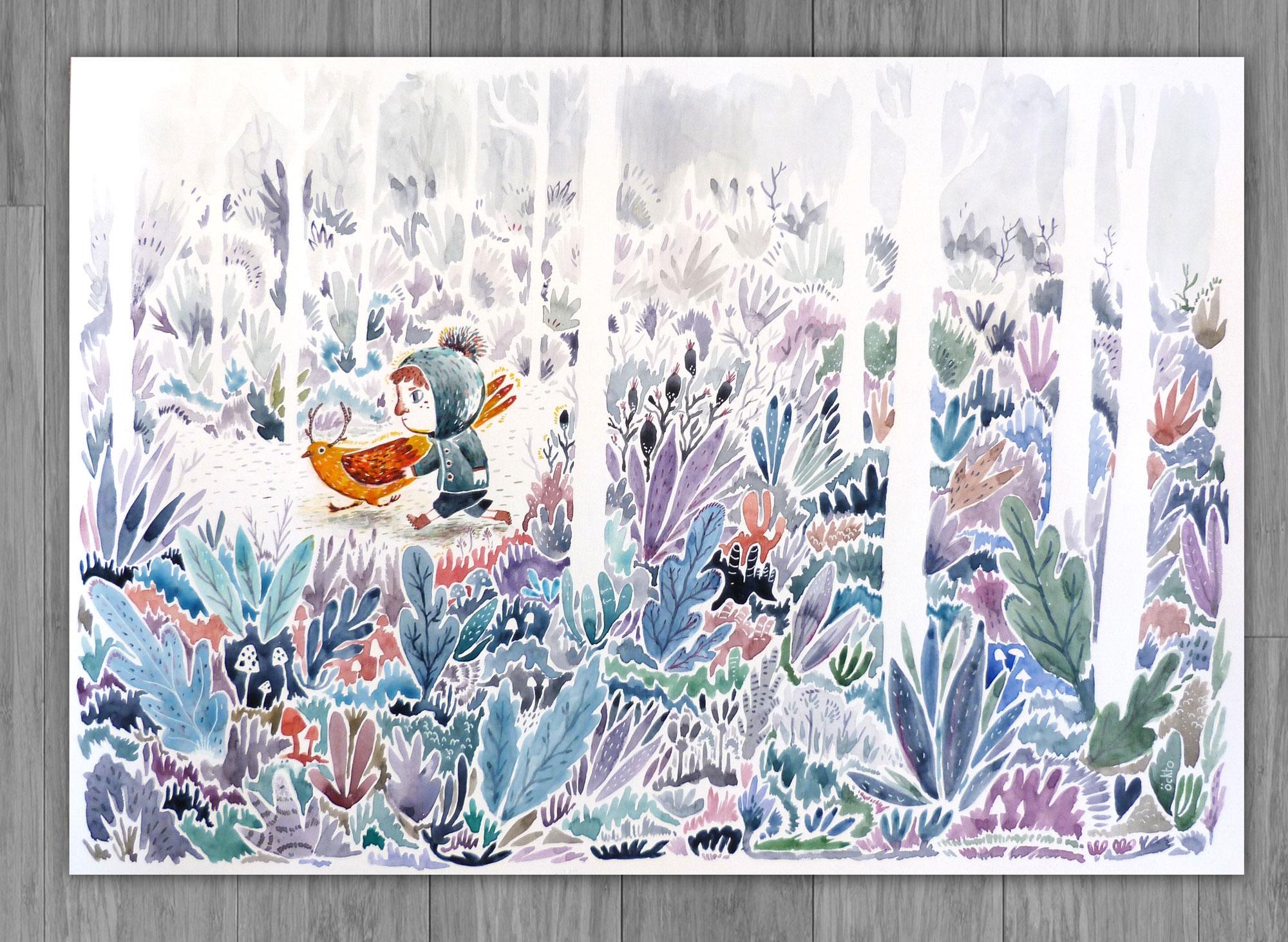 Pigeon lumineux - illustration, öckto - ockto | ello