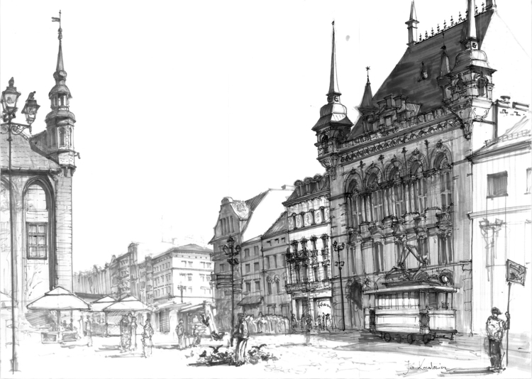 Thorn, town, Poland Tria Marker - jandraws | ello