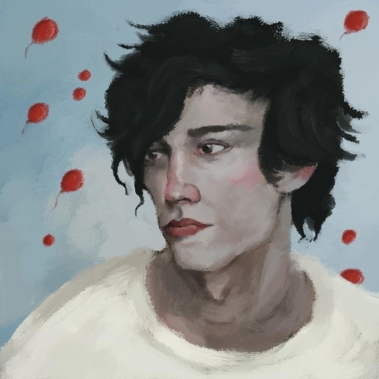 99 red baloons - illustration, digitalart - prianikn | ello