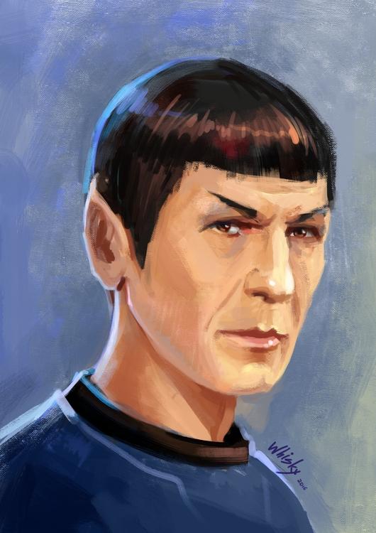 Spock - sketch, fanart, startrek - alexandratokaruk | ello
