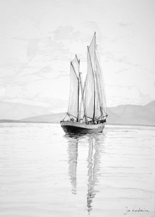 sail Tria Markers, B2 - ship, boat - jandraws | ello