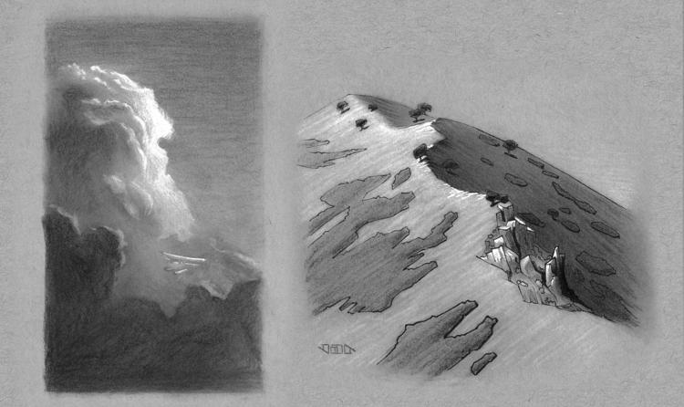 Landscape studies! boring stuff - vanillustration | ello