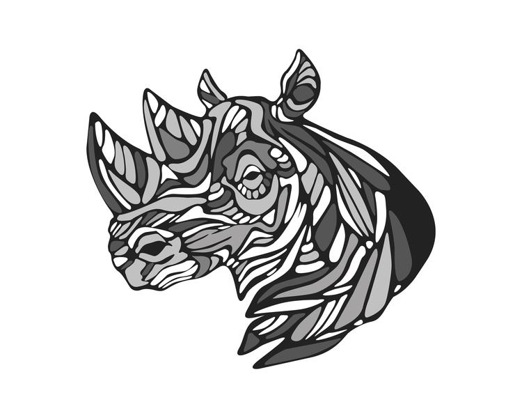 Rhino - rhino,animal,horns,illustration,drawing, - bernardojbp   ello
