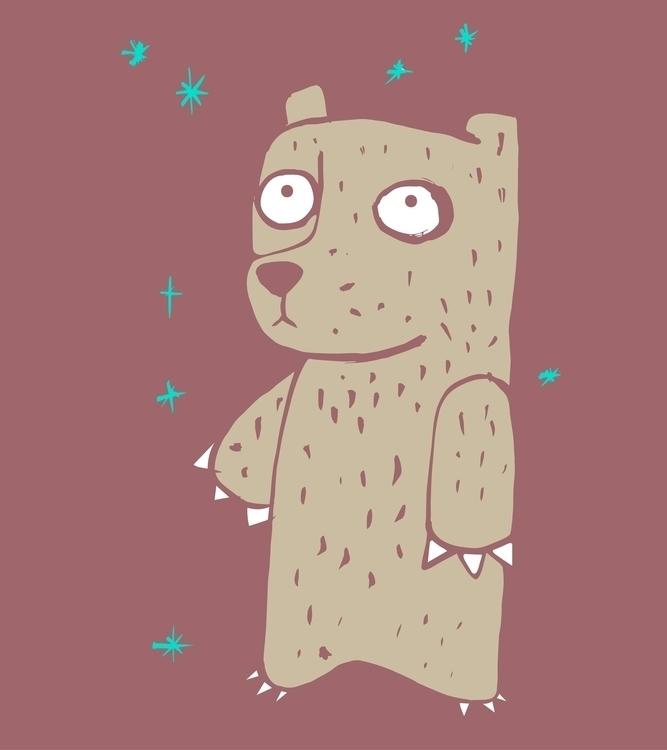 Shy bear - bear,animal,illustration,drawing,shy - bernardojbp | ello