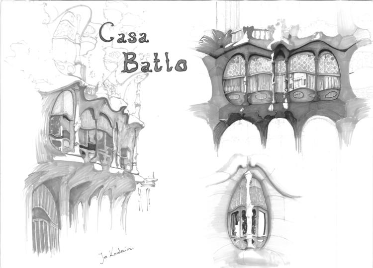 Antonio Gaudi - architecture st - jandraws | ello