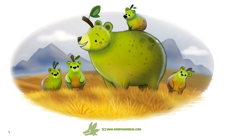 Daily Paint Grizzly Pears - 1221. - piperthibodeau | ello