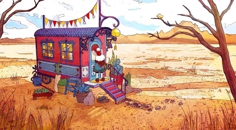 Desert Gardener - children'sillustration - annieswihart | ello