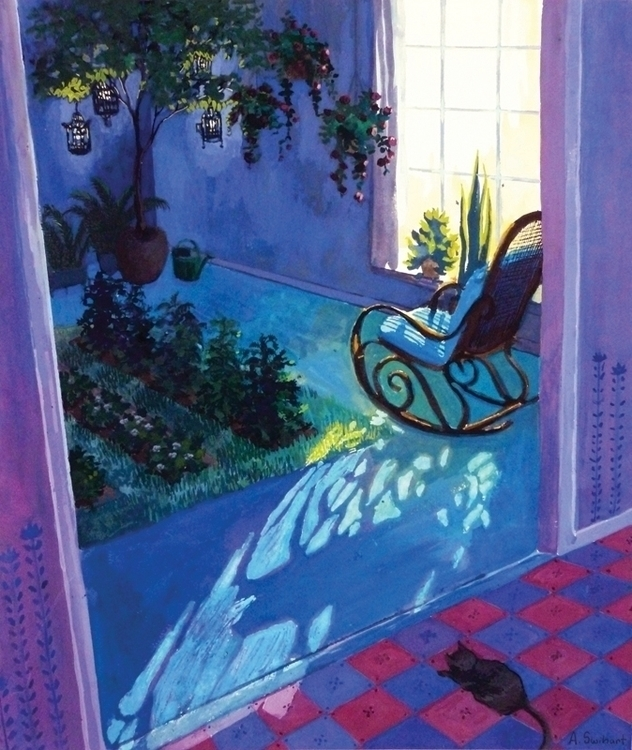 Indoor Garden - gouache, illustration - annieswihart | ello