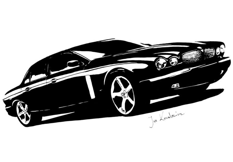 Jaguar XRJ Black marker + finel - jandraws | ello