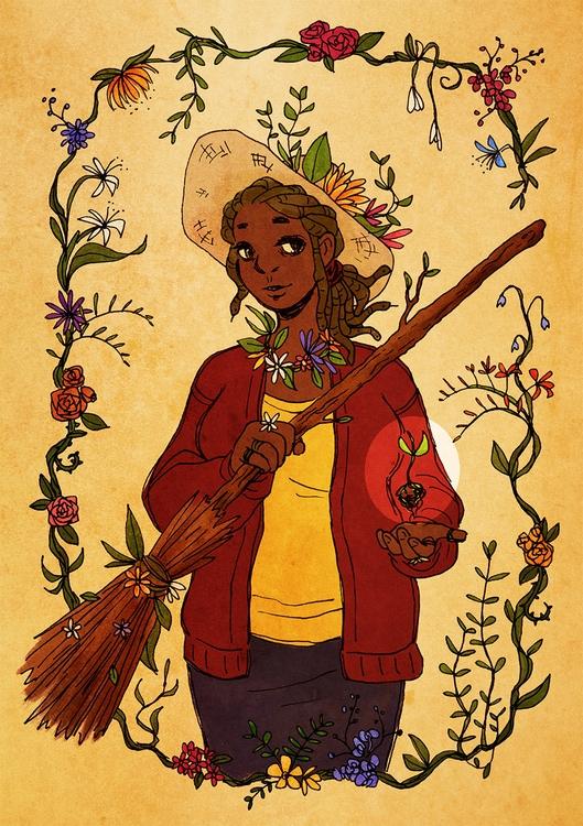 character melanie, garden witch - linbhu | ello