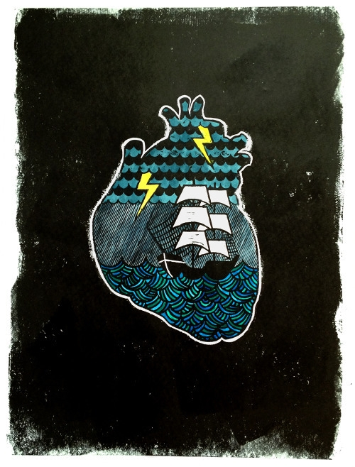 heartstorm, illustration, letterpress - buchino-1190 | ello