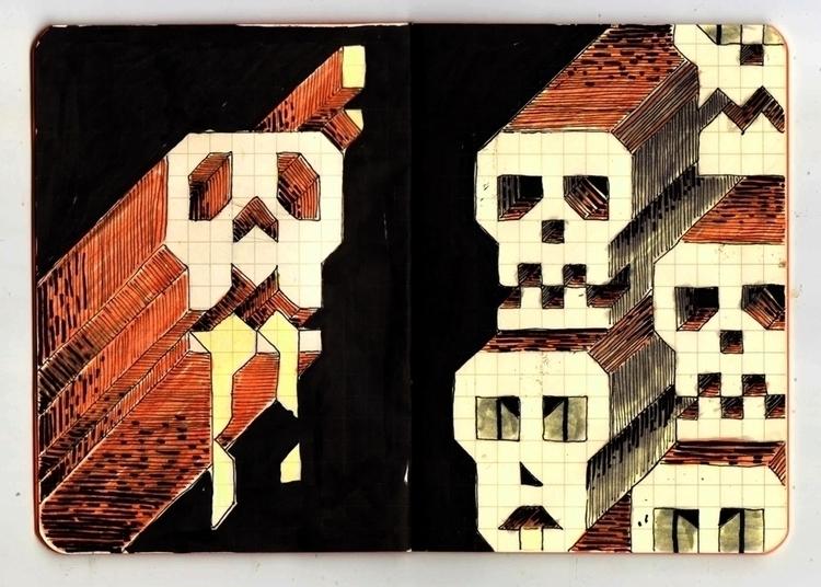 square grid notepads sketchbook - massavage | ello