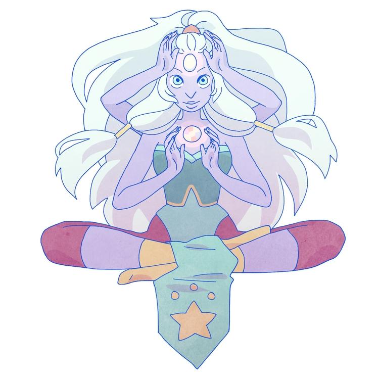 Opal Steven Universe, collab pr - linbhu | ello
