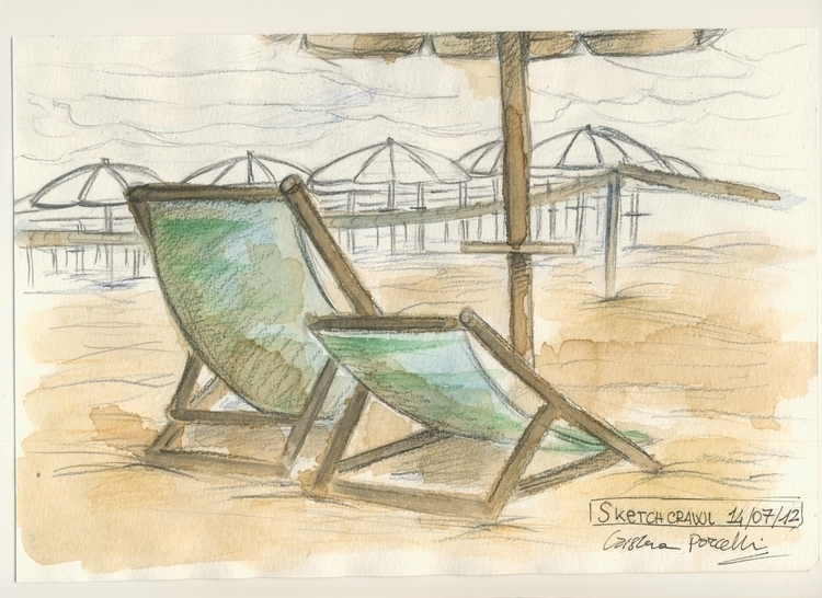 Sketch beach - sketch, sketchbook - cristinaporcelli | ello