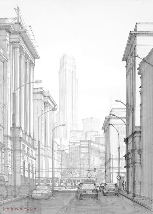 City street Tria Markers, B2 - city - jandraws | ello