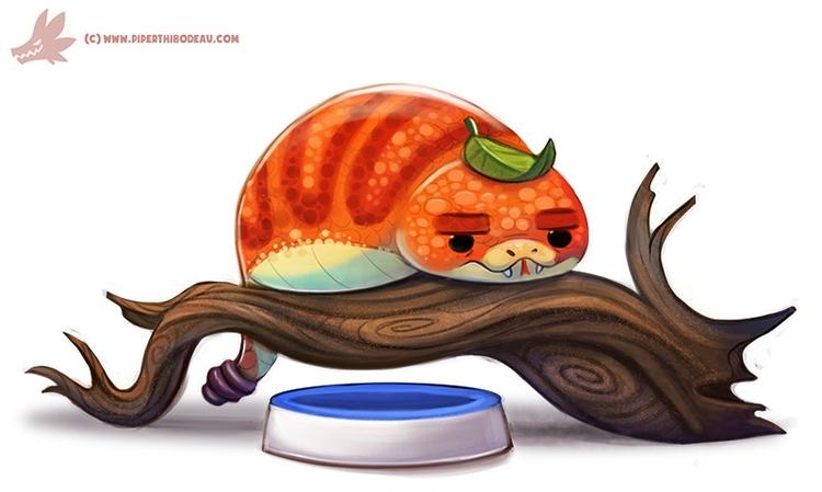 Daily Paint Pet Tsuchinoko - 1117. - piperthibodeau   ello