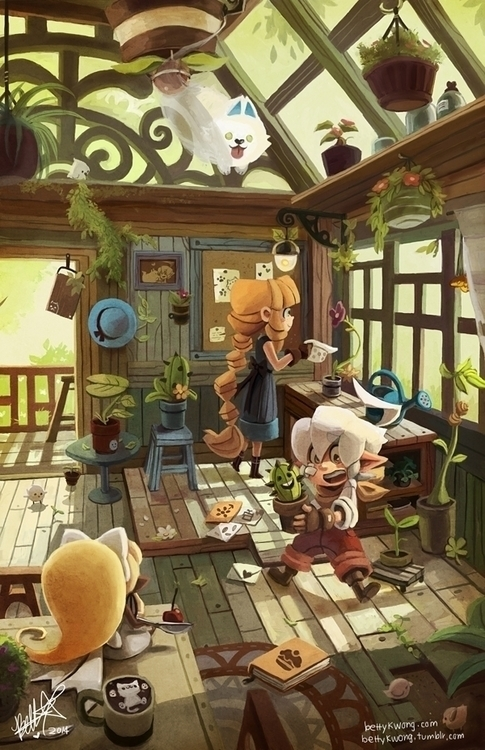 Illustration characters care pl - bettykwong | ello