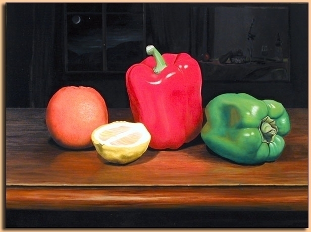 Pepper Life - Oil Canvas 60cm 4 - matteopaints | ello