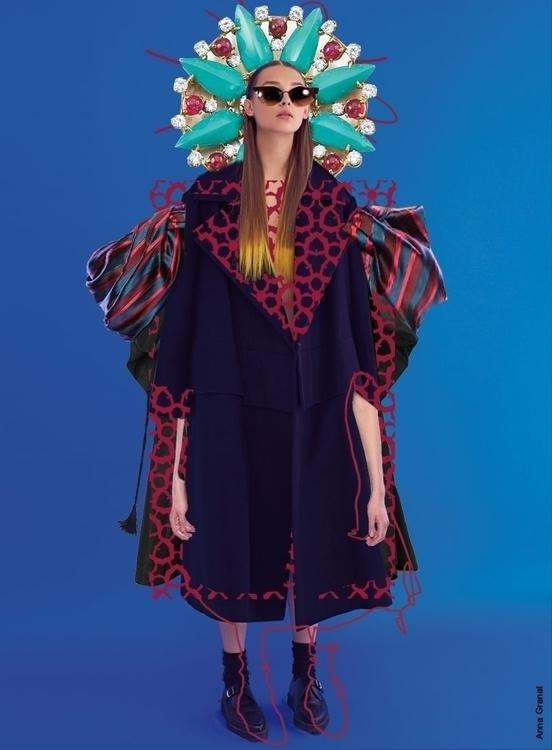 collage, fashion, illustration - annagranat | ello