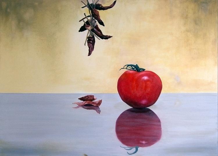 Tomato Life - Oil Canvas 70cm 5 - matteopaints | ello
