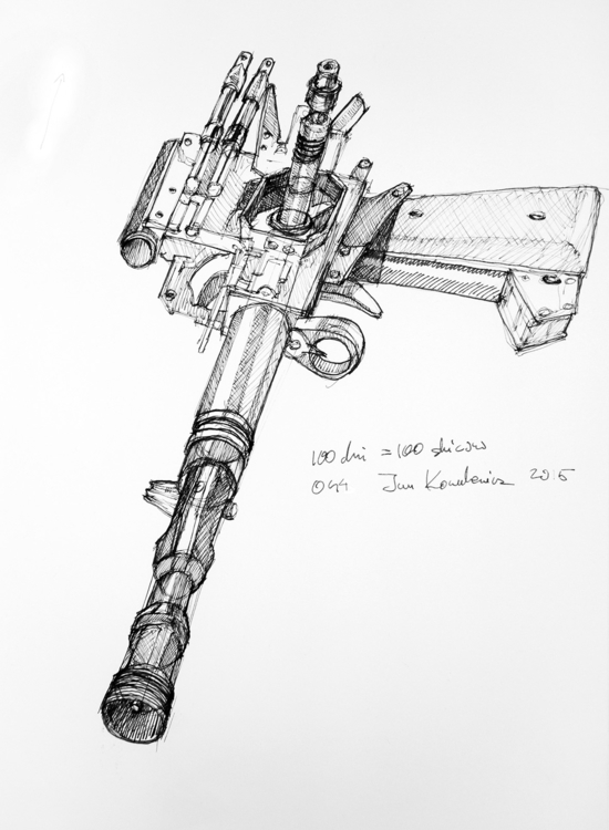 Han Pistol Ink paper, A3 - jandraws - jandraws | ello