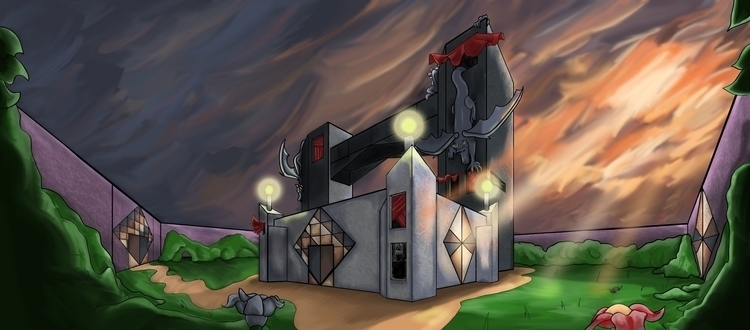 home castle - drawing, design, painting - kaitalayne | ello