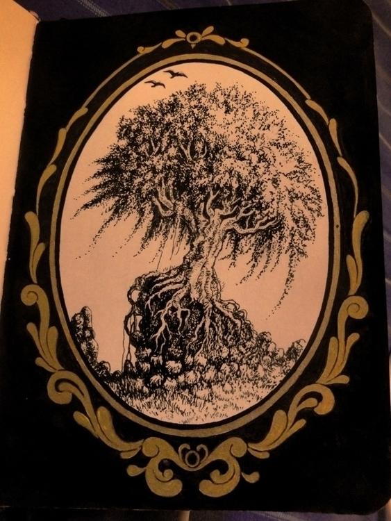 Tree - #tree#sketchbook#sketch#frame#pontillism - alexfurtado-1327 | ello