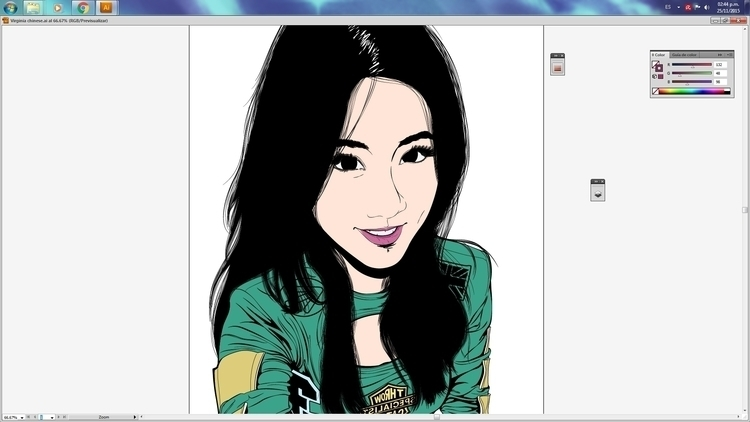 illustration finished - wip, asiangirls - atsukosan-3588 | ello
