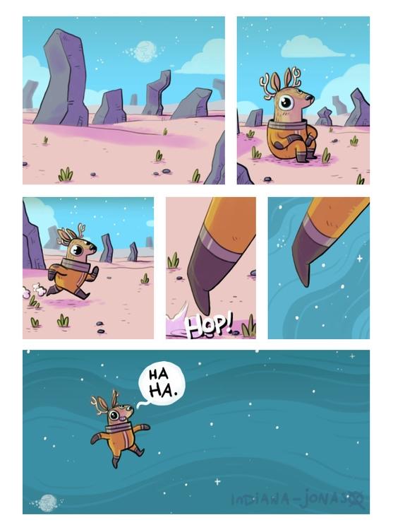Space Deer spirit animal - comic - indiana_jonas | ello