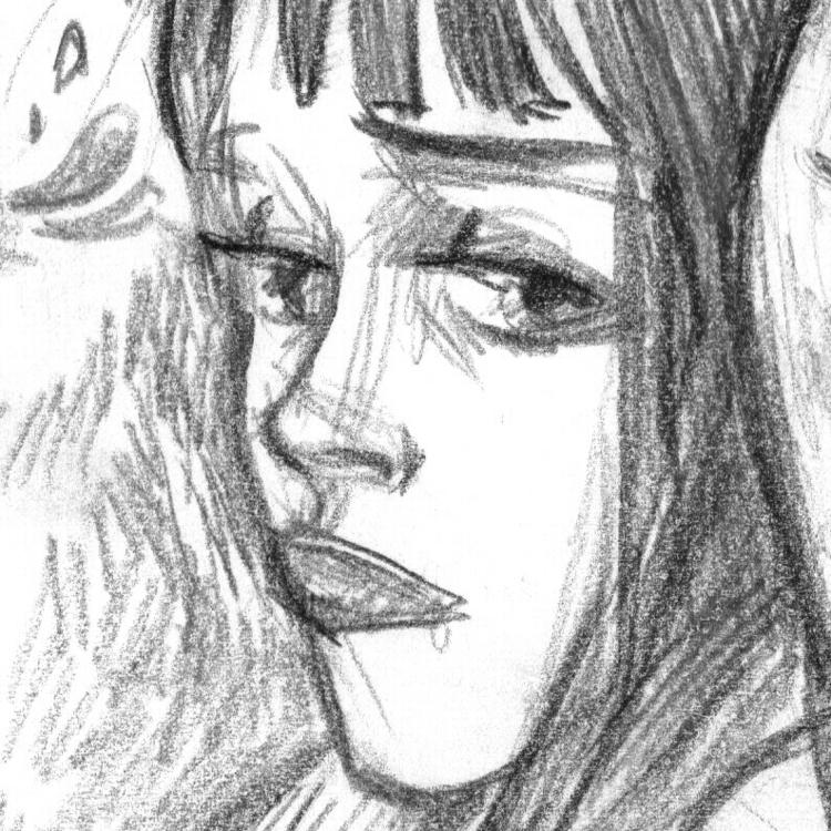drawing, dedadarko, girl, face - dedadarko | ello