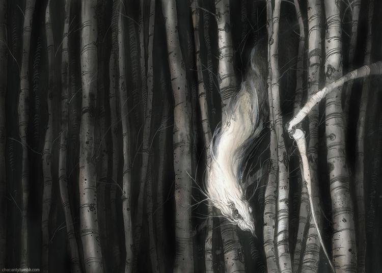 birchwood, forest, monster - checanty | ello