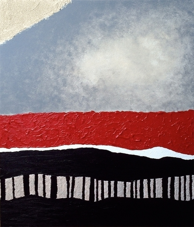 Calm Storm 16 20 - painting, acrylic - leesamclellan | ello
