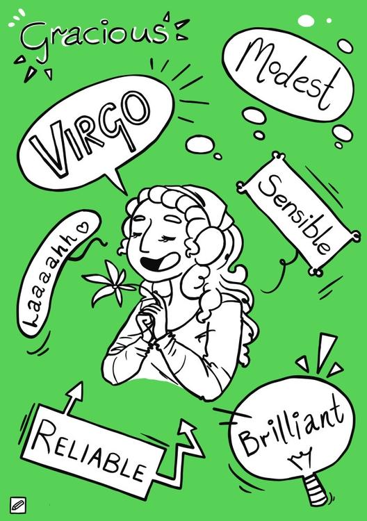 Virgo - illustration, zodiac, series - pencilboxillustration | ello