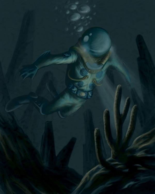 Enceladus Lives Digital - illustration - mkpowell66 | ello